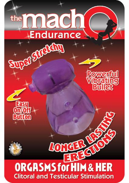 The Macho Endurance Vibrating Cockring Waterproof Purple