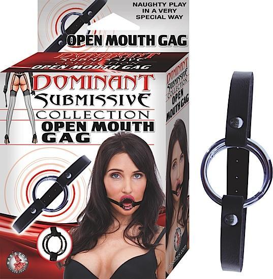 Open Mouth Gag Black OS