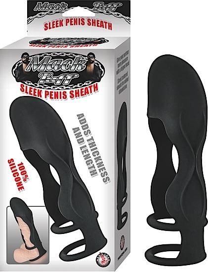 Sleek Silicone Penis Sheath - Black