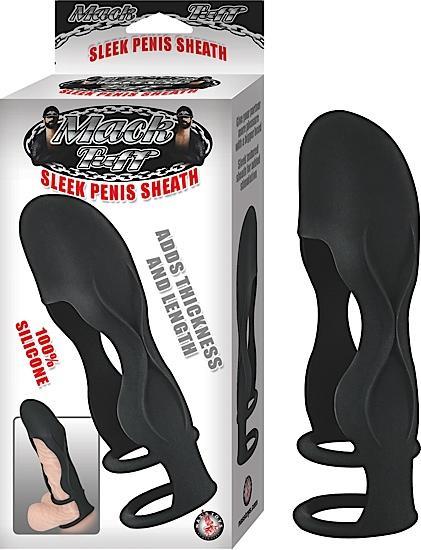 Sleek Silicone Penis Sheath - Black