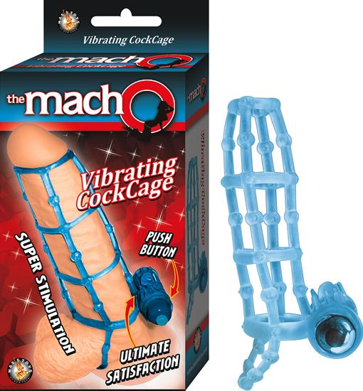 Macho Vibrating Cockcage Blue