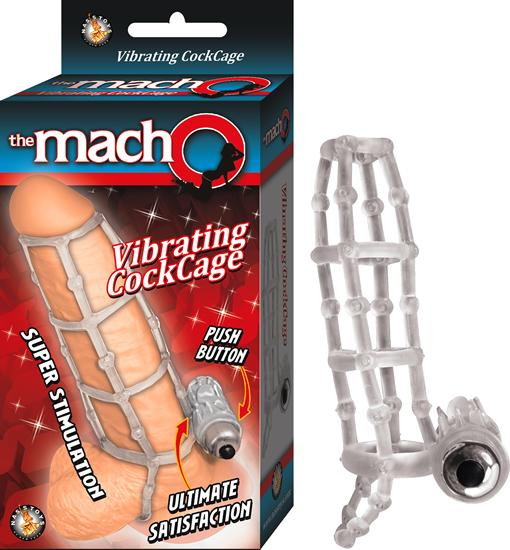 Macho Vibrating Cock Cage Clear