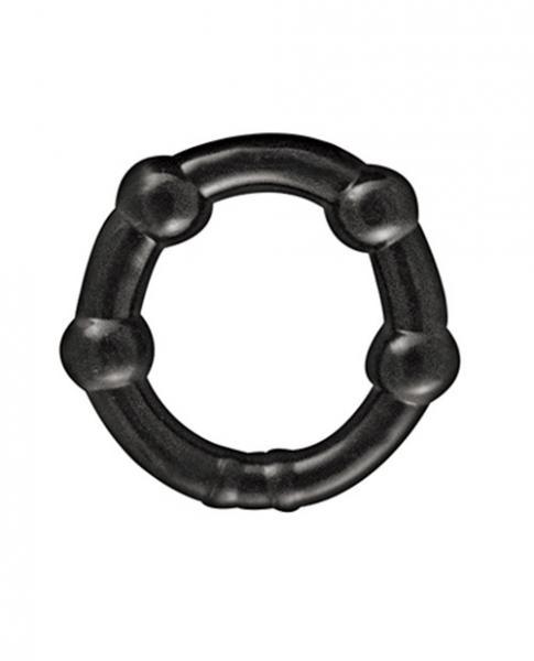 My Ten Erection Rings Beaded Comfort Rings Black