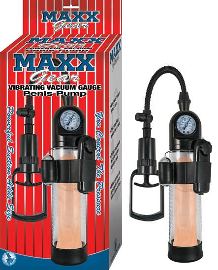 Maxx Gear Vibrating Vacuum Penis Pump Clear