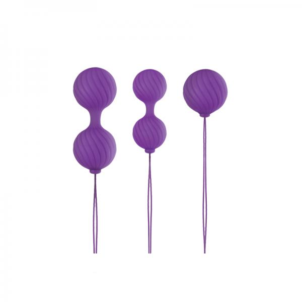 Luxe O Weighted Kegel Balls Purple