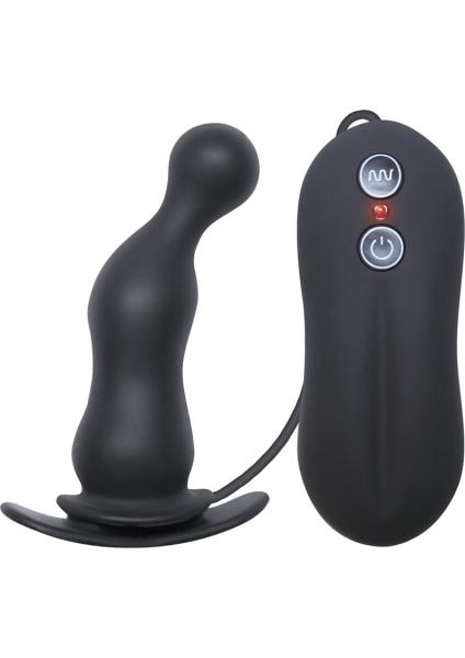 Tinglers Vibrating Silicone Plug III Black