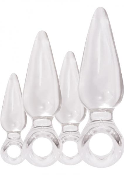 Jolie Pleasures Trainer Kit Jelly Anal Plugs Clear 4 Each Per Kit