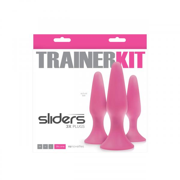 Sliders 3 Piece Trainer Kit Plugs Pink