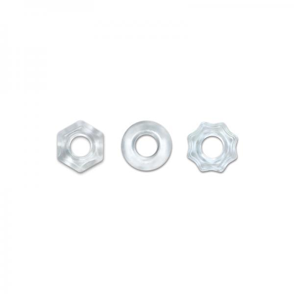Renegade Chubbies 3 Pack Cock Rings Clear