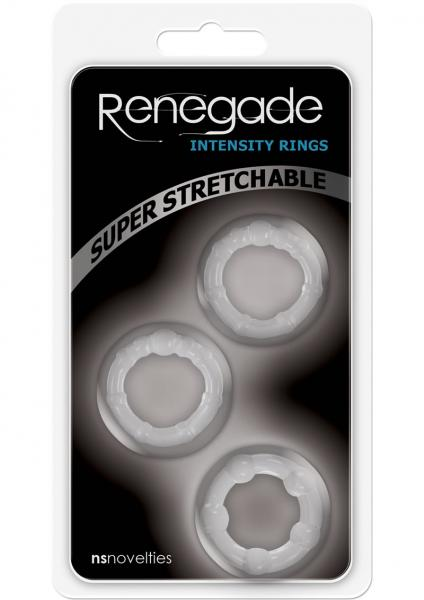 Renegade Intensity Rings Cockrings Clear 3 Each Per Pack