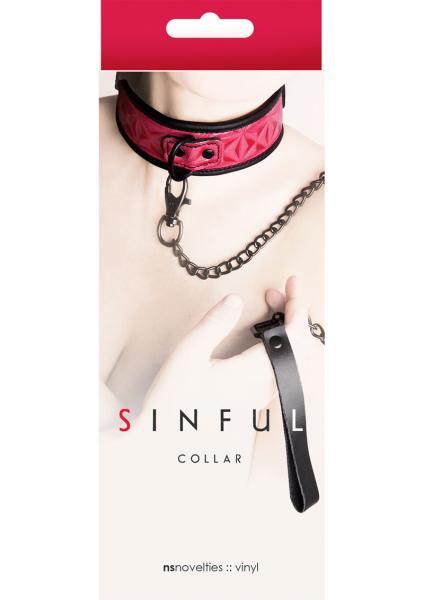 Sinful Vinyl Collar Pink Adjustable