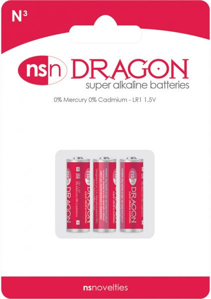 Dragon Super Alkaline Batteries N3/LR1 1.5 Volt 3 Each Per Pack