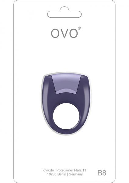 Ovo B8 Silicone Cock Ring Waterproof Lilac And Metallic Lilac