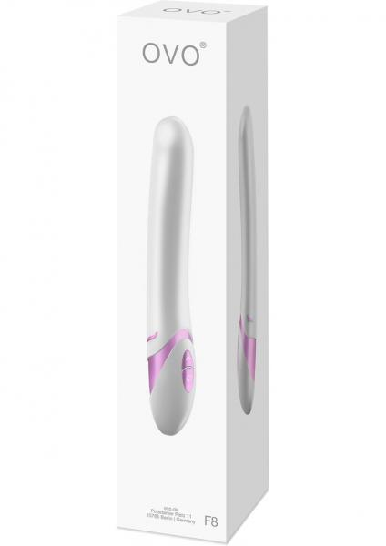 Ovo F8 Silicone Vibrator Waterproof White And Pink