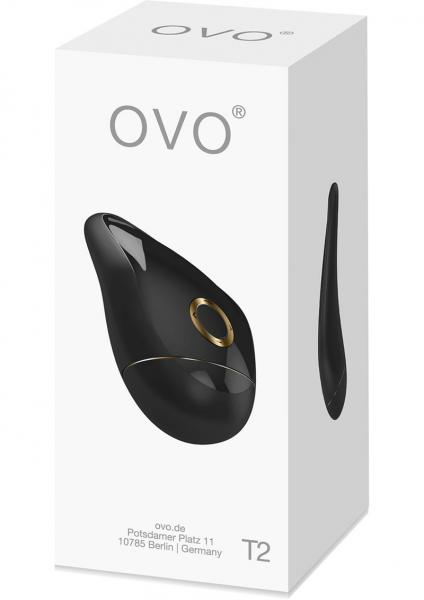 Ovo T2 Lay On Massager Waterproof Black And Gold