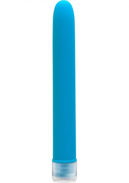 Neon Luv Touch Neon Slims Vibrator Waterproof 5.75 Inch Blue