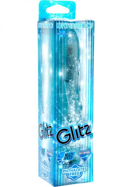 Glitz Vibrator Waterproof 5.5 Inches Blue