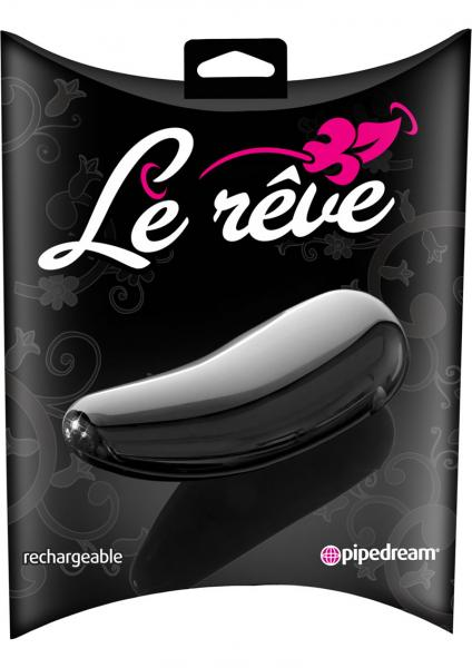 Le Reve Rechargeable Massager Waterproof 4 Inch Black
