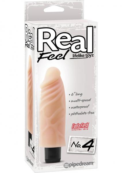 Real Feel Lifelike Toyz No 4 Beige Vibrating Dildo
