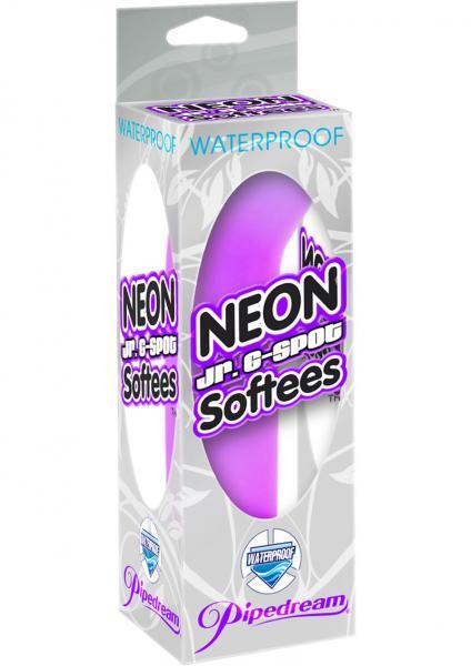 Neon Jr G Spot Softees Vibe Waterproof 5.25 Inch Purple