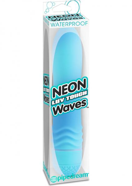 Neon Luv Touch Waves Vibe Waterproof 5.5 Inch Blue