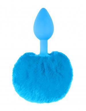 Neon Bunny Tail Plug Blue