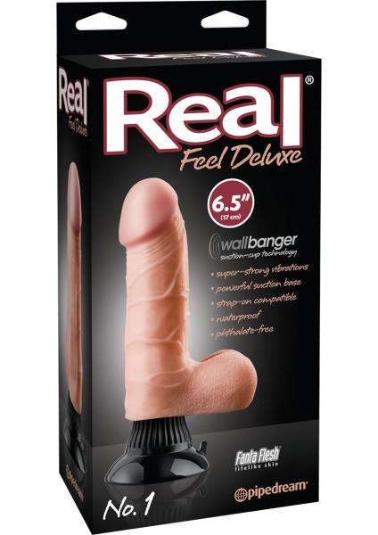 Real Feel Deluxe No 1 Wallbanger Vibrating Dildo Waterproof Flesh 6.5 Inch