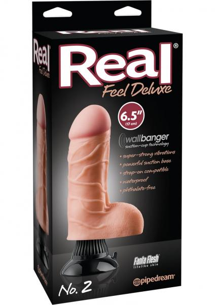 Real Feel Deluxe No 2 Wallbanger Dildo Waterproof Flesh 6.5 Inch