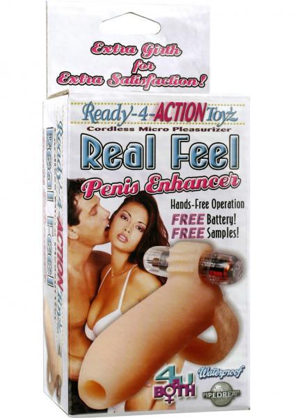 Ready 4 Action Real Feel Penis Enhancer Waterproof 5.25 Inch Flesh