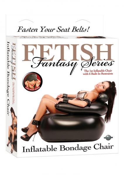 Fetish Fantasy Inflatable Bondage Chair Black