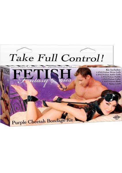 Fetish Fantasy Purple Cheetah Bondage Kit