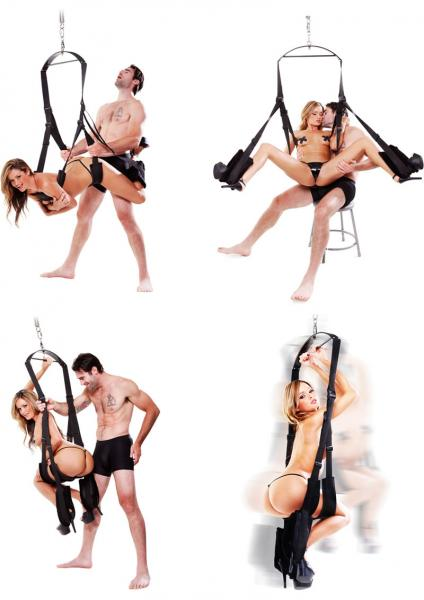 Fetish Fantasy Spinning Fantasy Swing Black