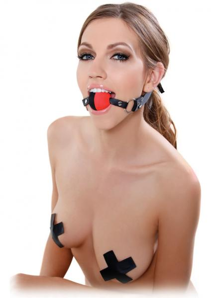 Fetish Fantasy Two Tone Ball Gag Black/Red