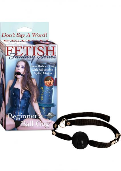 Fetish Fantasy Beginners Ball Gag Black