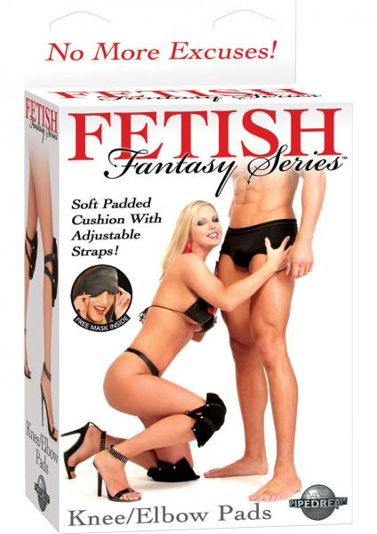 Fetish Fantasy Knee Elbow Pads 2 Pack Black