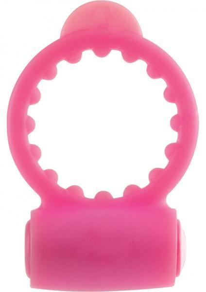 Neon Vibrating C Ring - Pink