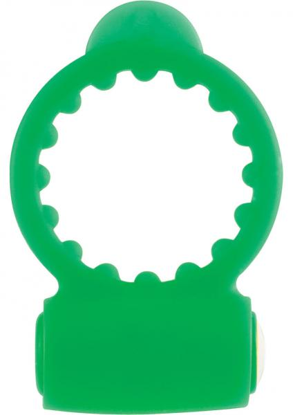 Neon Vibrating Cockring Waterproof Green
