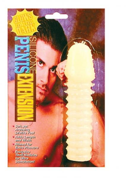 Silicone Penis Extension Glow In The Dark 5.5 Inch