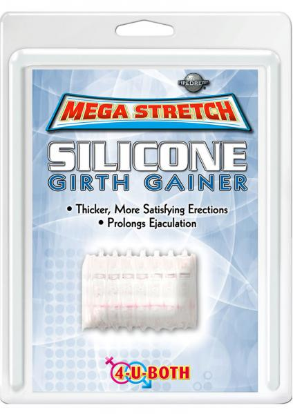 Mega Stretch Silicone Girth Gainer 2 Inches Clear