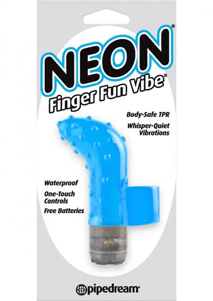 Neon Finger Fun Vibe Waterproof Blue