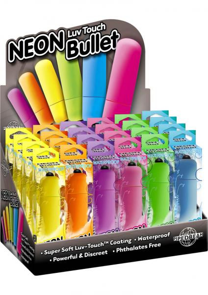 Neon Luv Touch Bullet Waterproof 2.25 Inch 24 Per Display