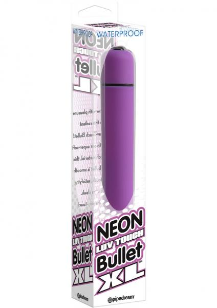 Neon Luv Touch Bullet XL Waterproof 3.25 Inch  Purple
