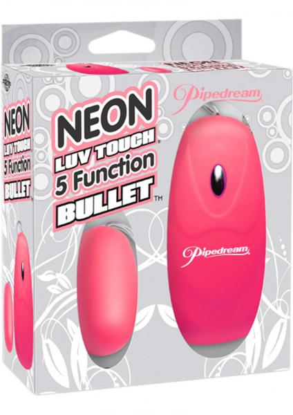 Neon Luv Touch 5 Function Bullet 2.25 Inch  Pink