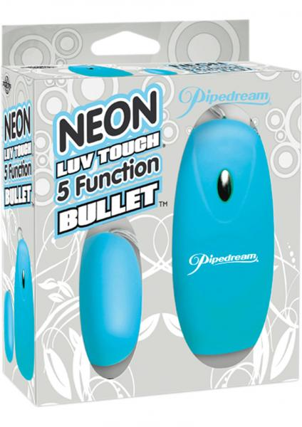 Neon Luv Touch 5 Function Bullet 2.25 Inch Blue