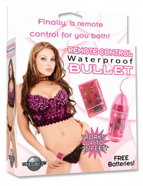 Remote Control Waterproof Bullet 3.25 Inch - Pink