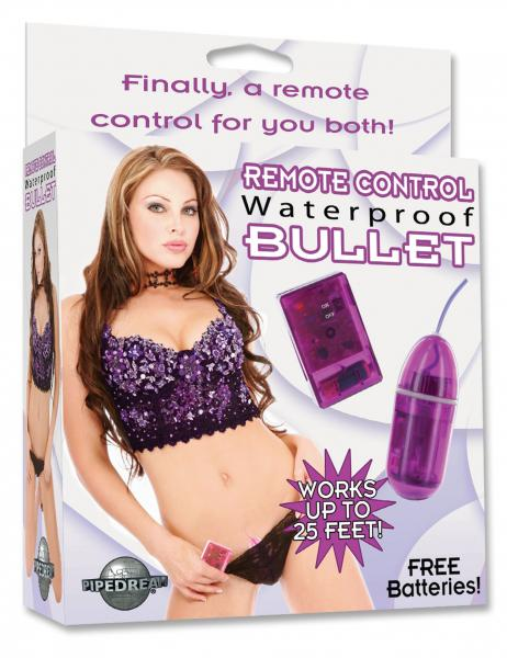 Remote Control Waterproof Bullet 3.25 Inch - Purple