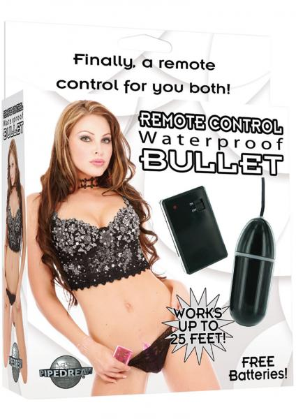 Remote Control Bullet Waterproof 3.25 Inch - Black
