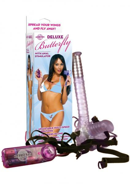 Deluxe Butterfly With Anal Stimulator Purple