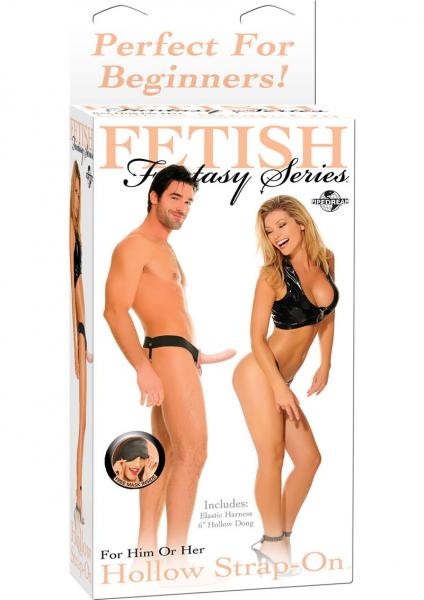 Fetish Fantasy Hollow Strap On 6.5 Inch - Beige