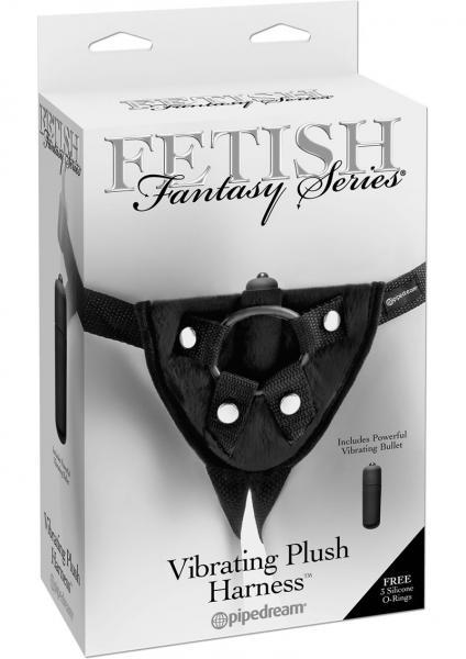 Fetish Fantasy Vibrating Plush Harness Adjustable Black